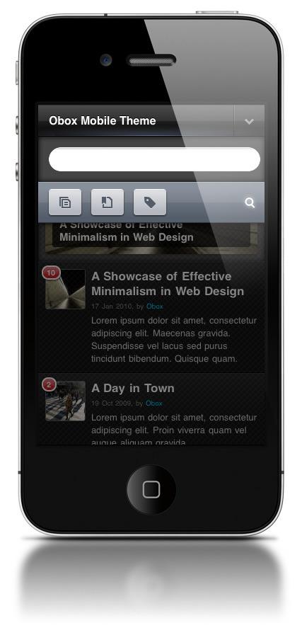 Obox Mobile - WordPress Mobile Framework