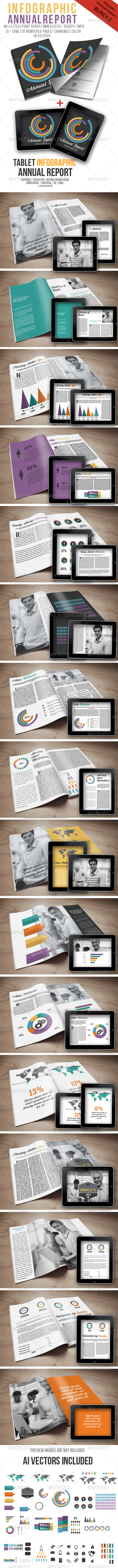 GraphicRiver Infographic Annual Report Bundle 6335544