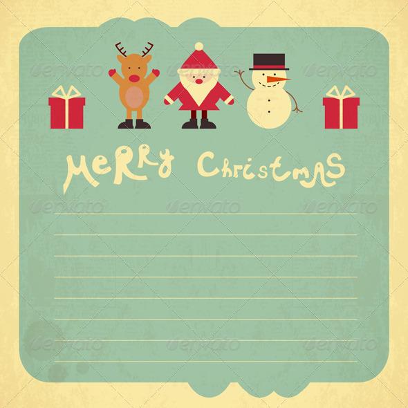 GraphicRiver Retro Merry Christmas Card 6335921