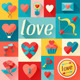 Valentine's and Wedding Backgrounds and Icons. - GraphicRiver Item for Sale