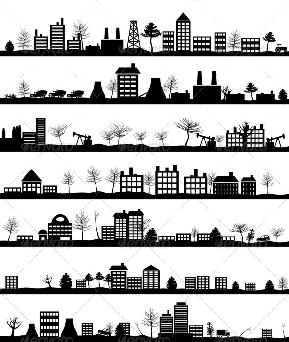 City landscape - Buildings Objects