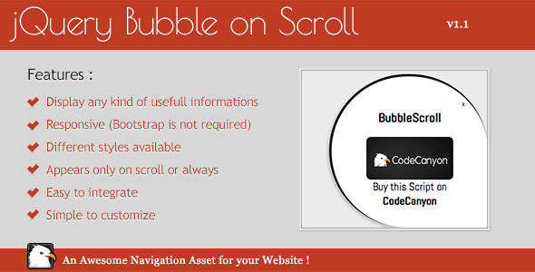 CodeCanyon Responsive and Animated jQuery Bubble 6274084