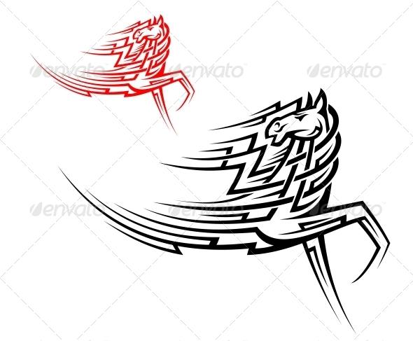 GraphicRiver Tribal Stallion Tattoo 6336154
