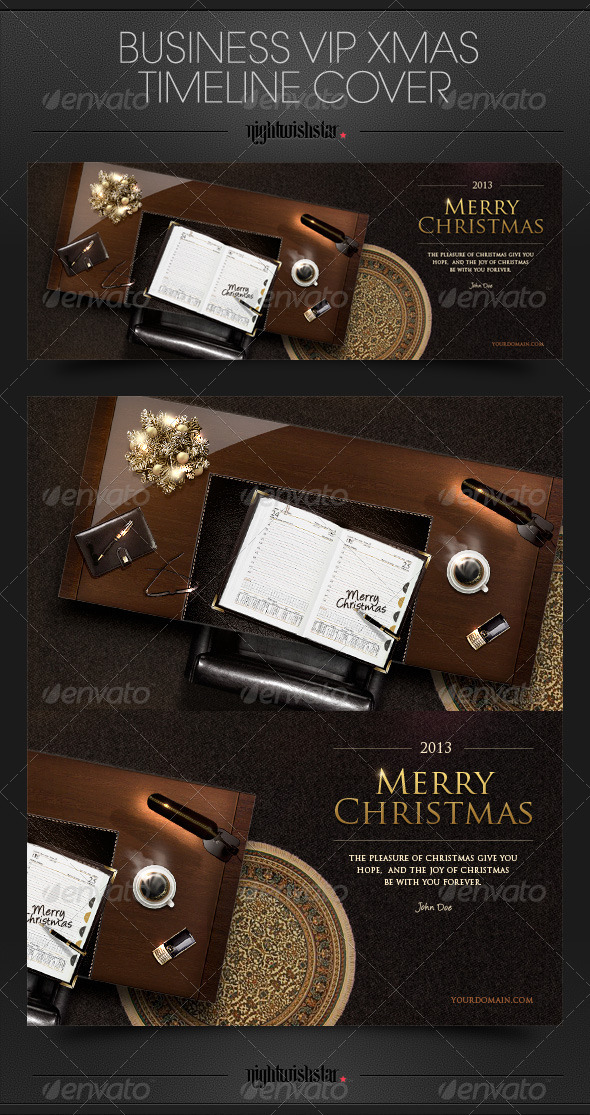 GraphicRiver VIP Business Christmas Timeline Cover 6336179