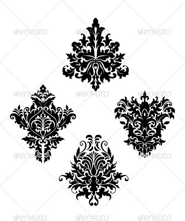 GraphicRiver Damask Vintage Floral Patterns 6336219