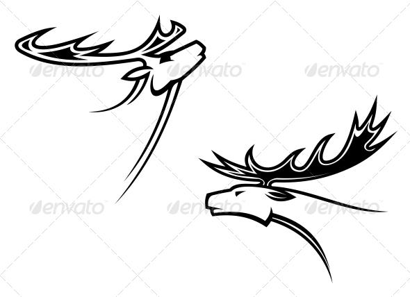 GraphicRiver Wild Deer Mascots 6336228