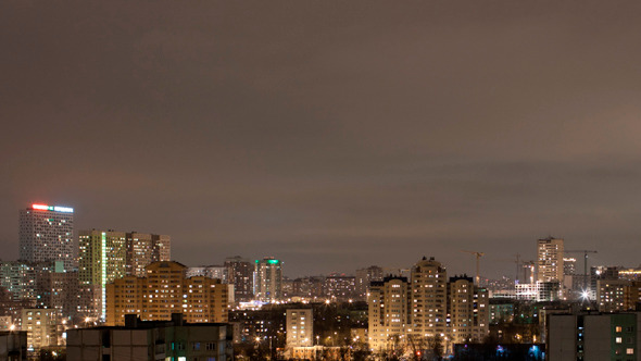 City Time Lapse By Night