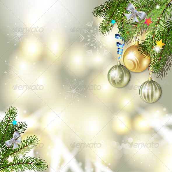 GraphicRiver Christmas Background with Balls 6336275