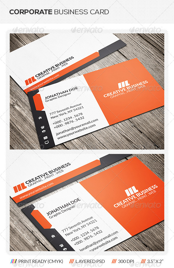 GraphicRiver Corporate Business Card 6336431