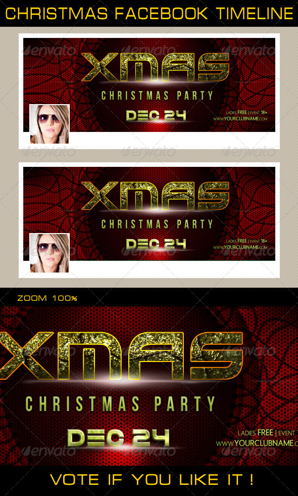 GraphicRiver Christmas Holidays Facebook Timeline 02 6336430