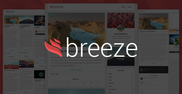 ThemeForest Breeze Minimalist Responsive Personal Blog 6336449