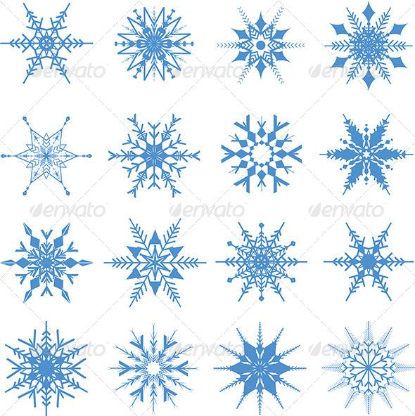 GraphicRiver Snowflake Designs 6336540
