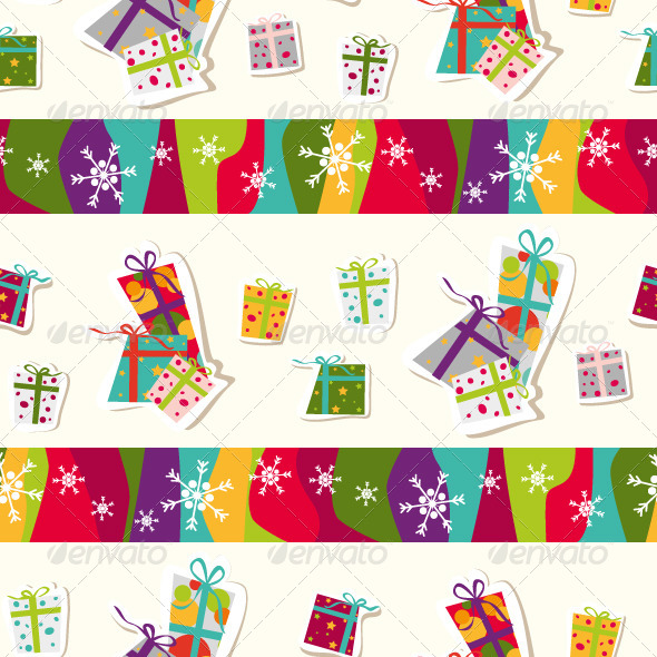 GraphicRiver Seamless Pattern with Presents 6336722