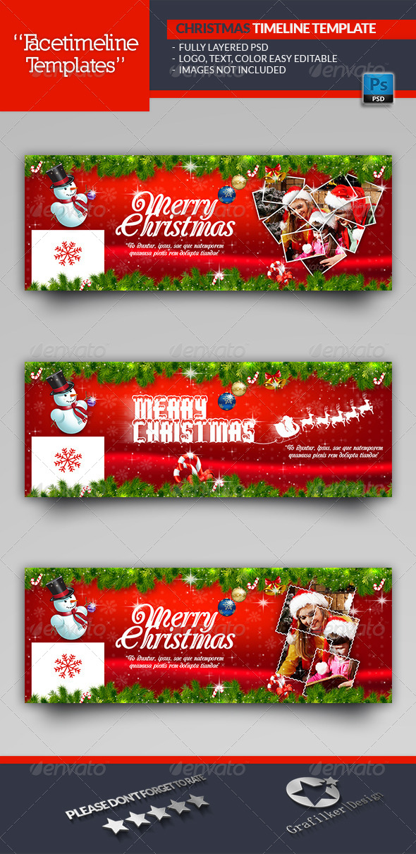 GraphicRiver Christmas Timeline Template 6337077