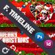Christmas Timeline Template