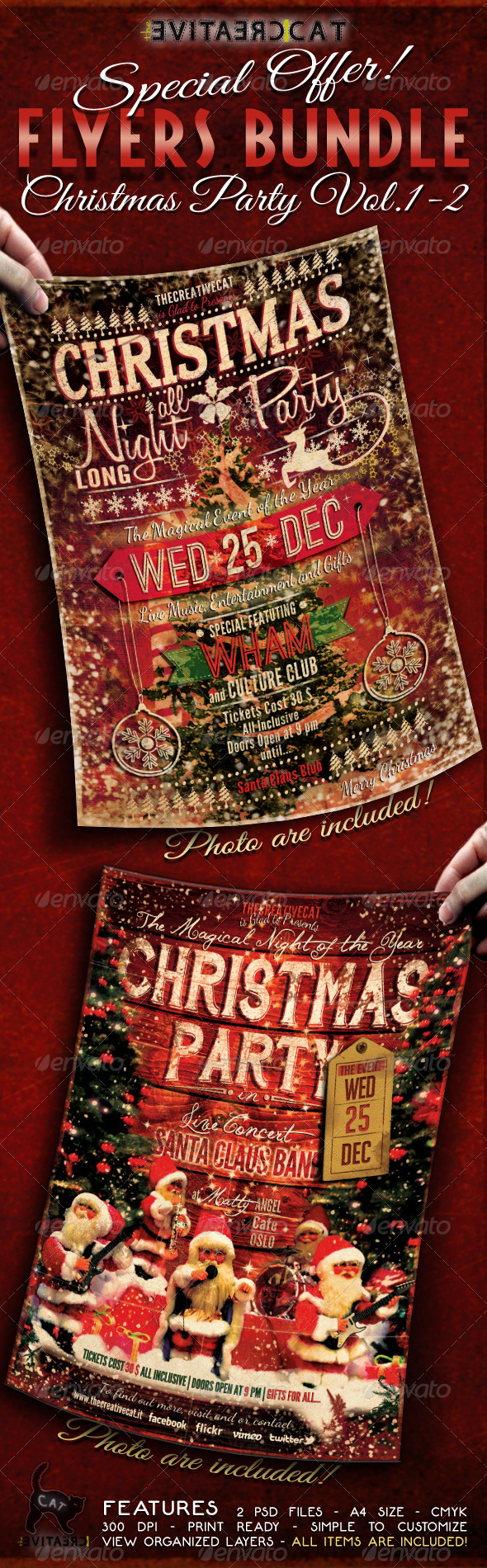 GraphicRiver Christmas Party Flyer Poster Bundle Vol 1-2 6337123