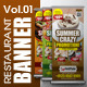 Restaurant Banner Vol.1 - GraphicRiver Item for Sale