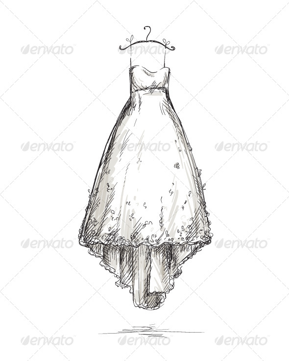 GraphicRiver Wedding Dress on a Hanger 6337202