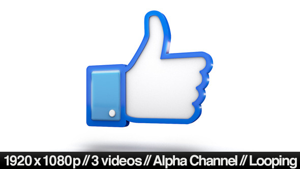 Facebook 3d Thumbs Up Like Icon By Butlerm Videohive