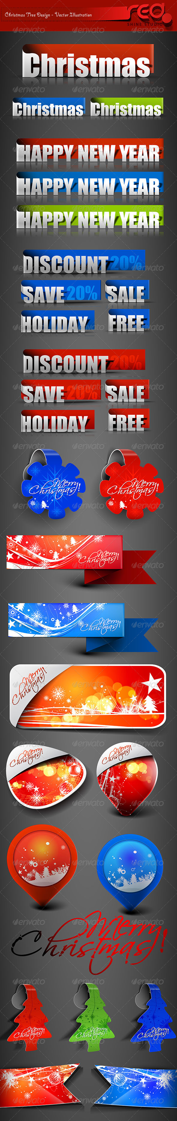 Christmas Decoration Element's - Christmas Seasons/Holidays