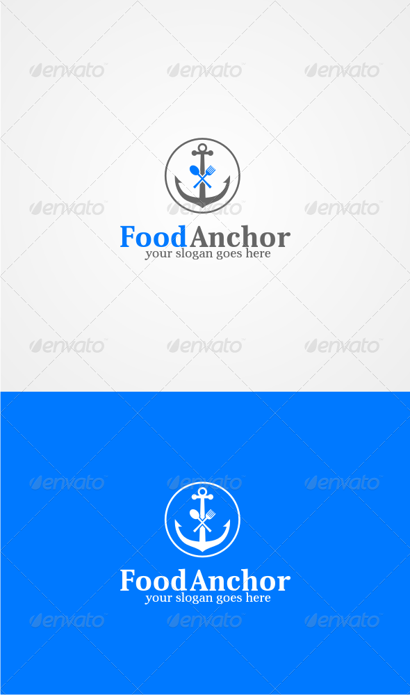 GraphicRiver Food Anchor Logo Template 6337660