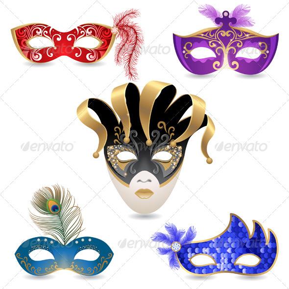 GraphicRiver Carnival Masks 6337791