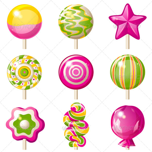 GraphicRiver Lollipops Set 6337801