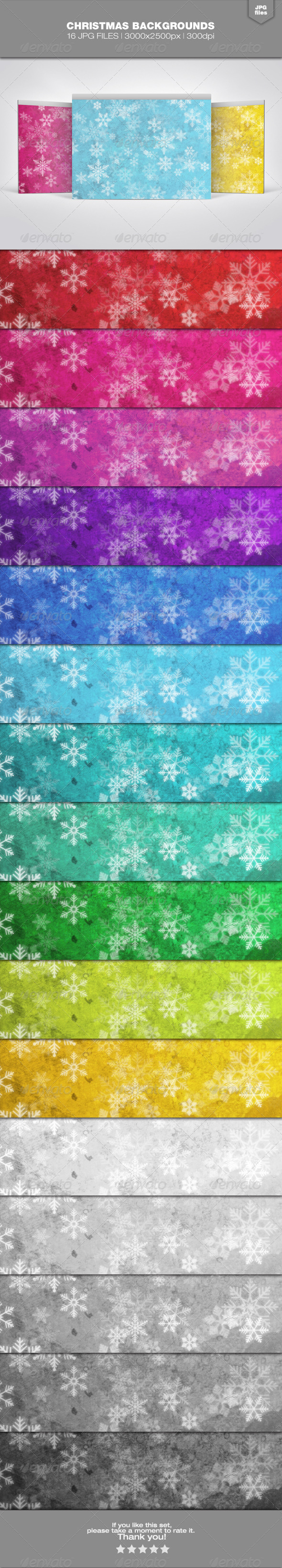 GraphicRiver Christmas Backgrounds Set 1 6337850