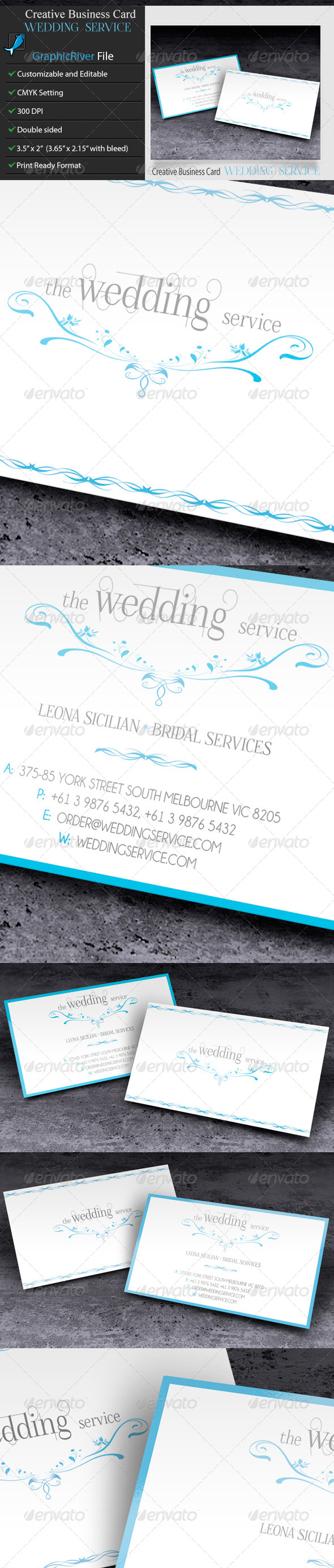 GraphicRiver Creative Business Card WeddingService 6337935
