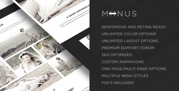 ThemeForest Miinus Retina Responsive Multi-Purpose Theme 6278484