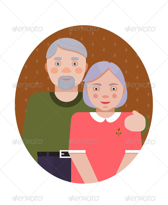 GraphicRiver Grandparents Portrait 6338073