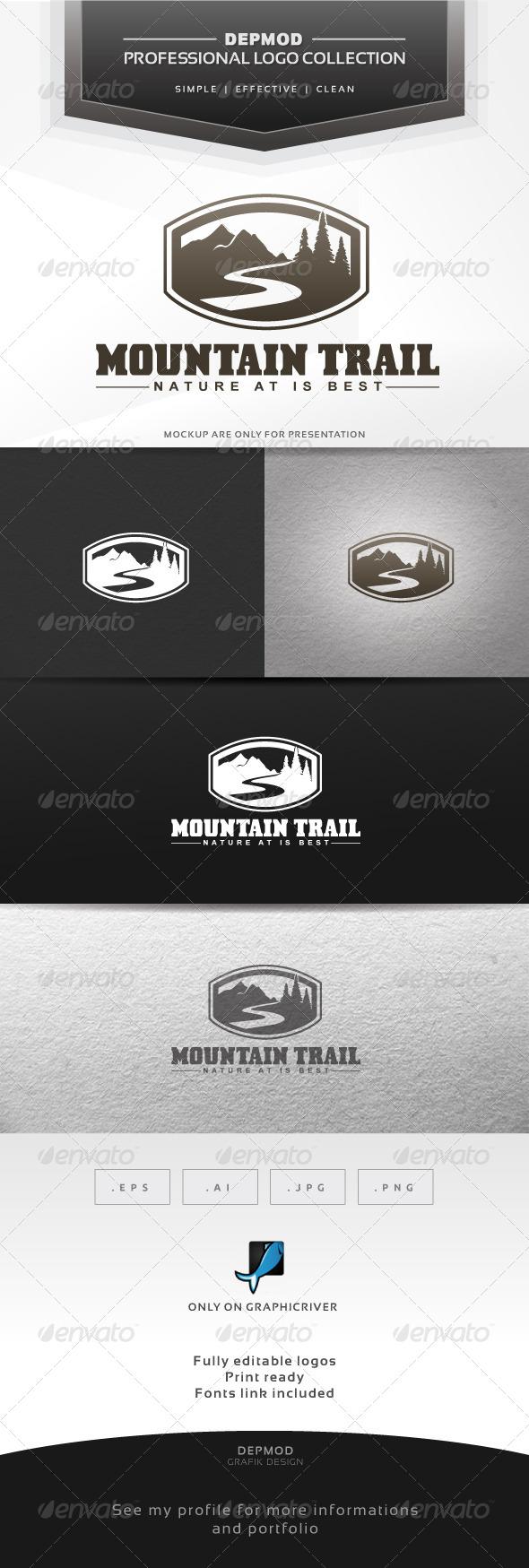 GraphicRiver Mountain Trail Logo 6338134
