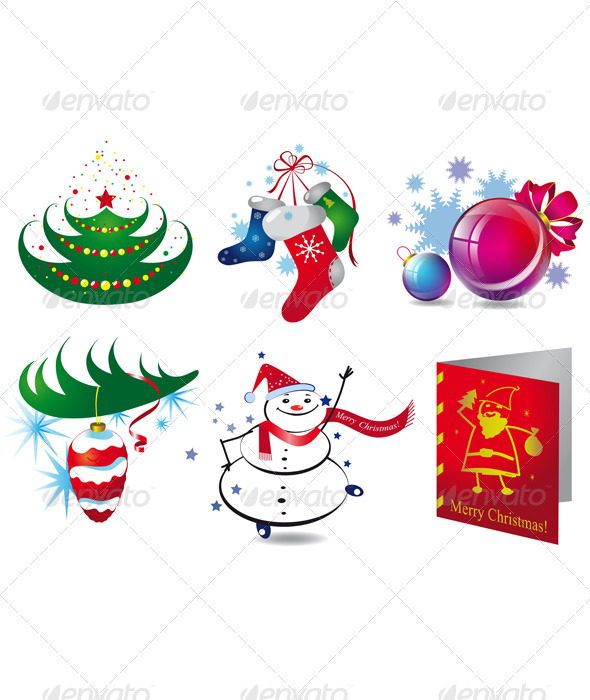 GraphicRiver Christmas Icons 6338533
