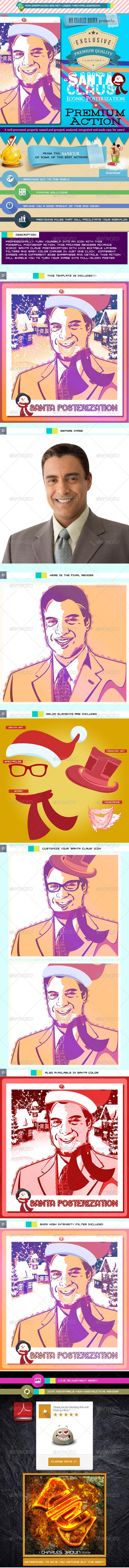 GraphicRiver Santa Claus Iconic Posterization Kit 6319113