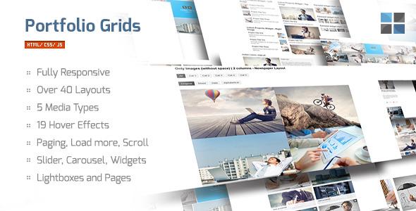 CodeCanyon Portfolio Grids HTML CSS JS 6338551