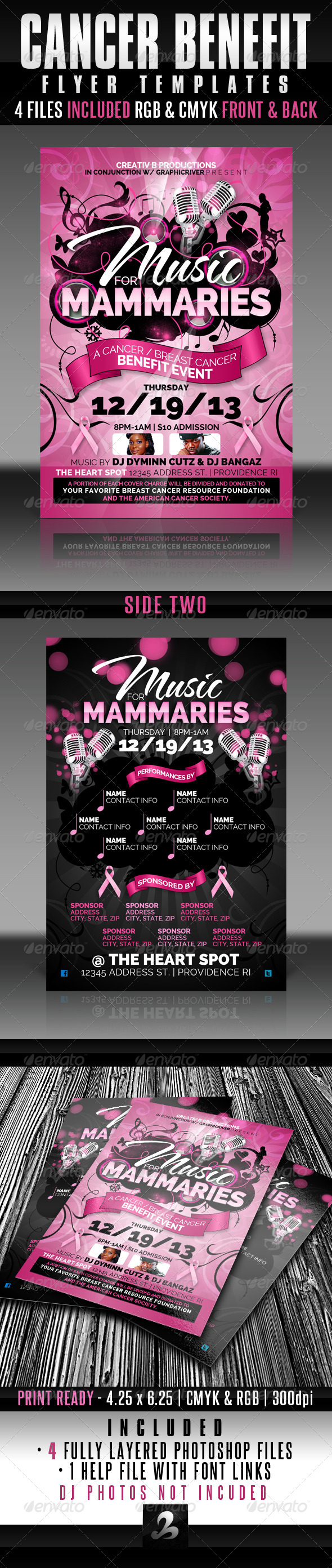 Cancer Benefit Flyer Templates
