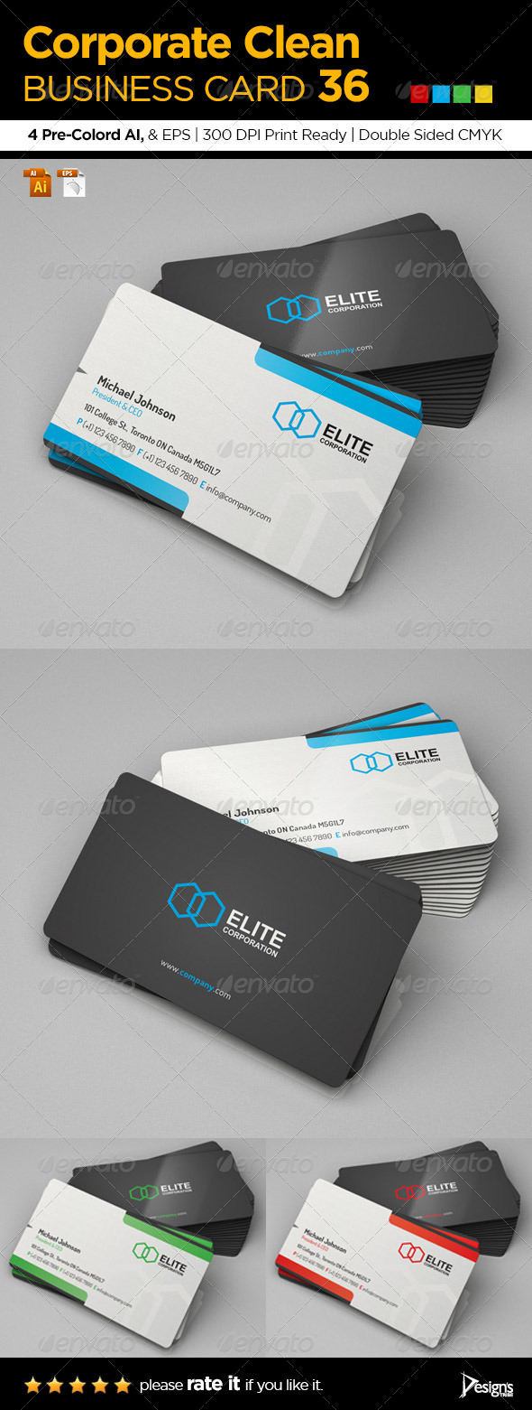GraphicRiver Corporate Clean Business Card 36 6338830