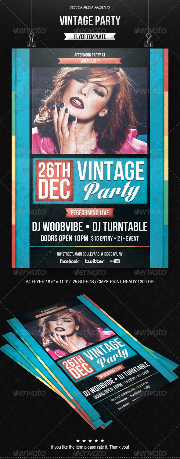 GraphicRiver Vintage Party Flyer 6338068