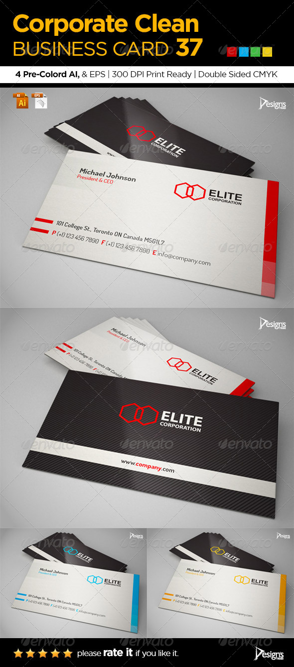 GraphicRiver Corporate Clean Business Card 37 6338964