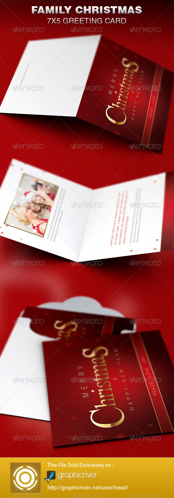 GraphicRiver Family Christmas Greeting Card Template 6338966