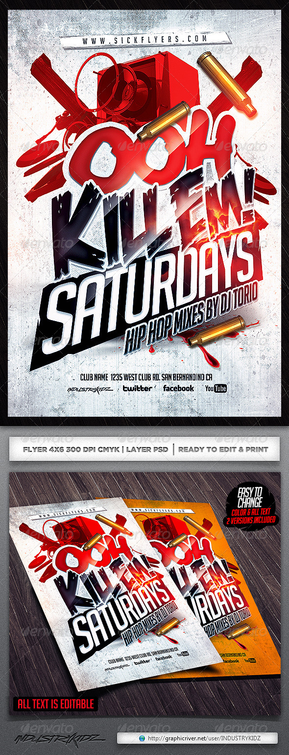 Ooh Kill Em Flyer Template