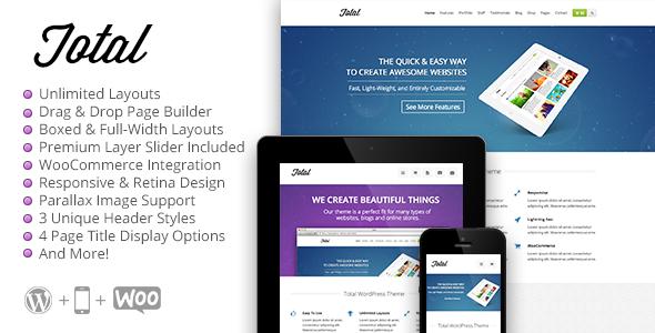ThemeForest Total Responsive Multi-Purpose WordPress Theme 6339019