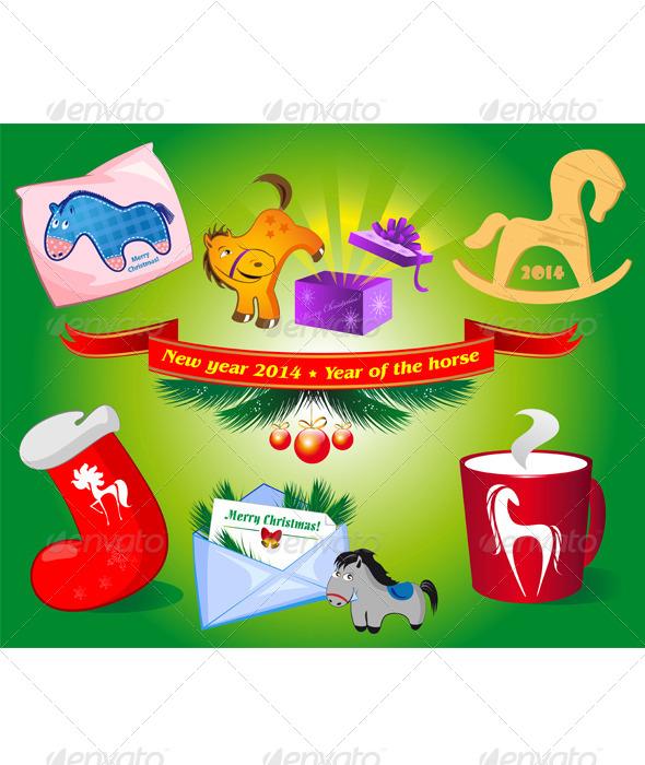 GraphicRiver Christmas Icons 6339017