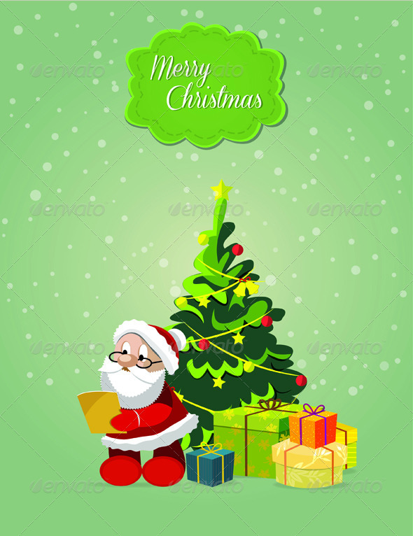GraphicRiver Santa Claus with Gifts 6331648