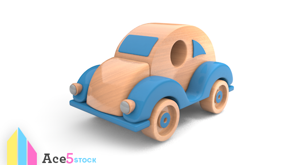 3DOcean Wooden Toy Car 6339138