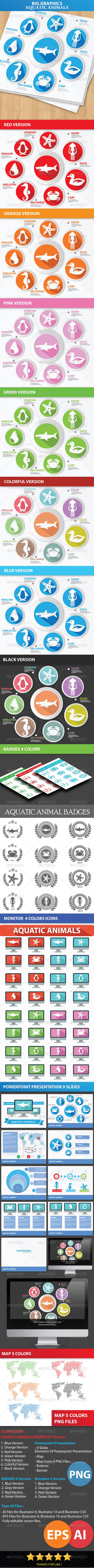 GraphicRiver Big Graphics Aquatic Animals Concept 6339160
