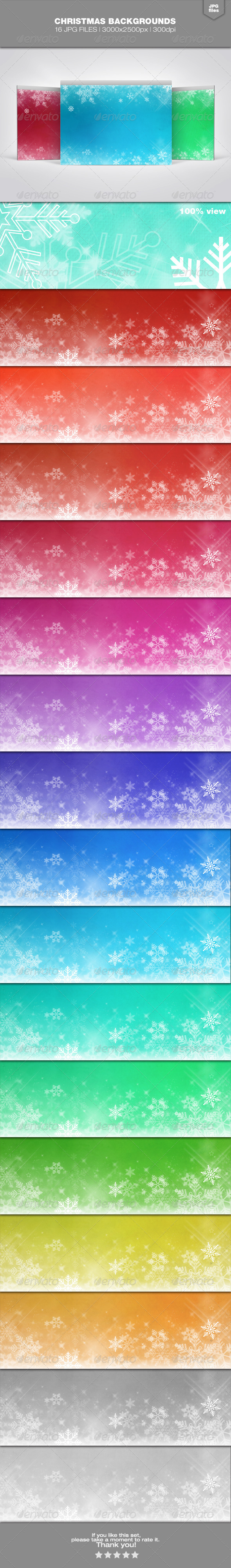 GraphicRiver Christmas Backgrounds Set 2 6339263