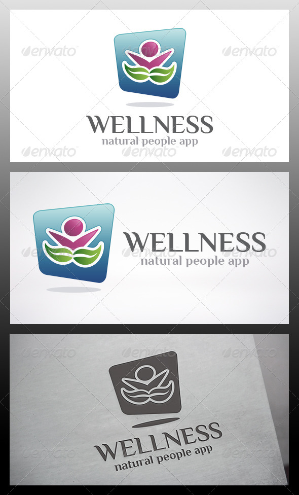 GraphicRiver Wellness App Logo 6339087