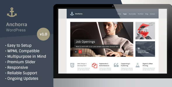 ThemeForest Anchorra Multipurpose Responsive Wordpress Theme 6265613
