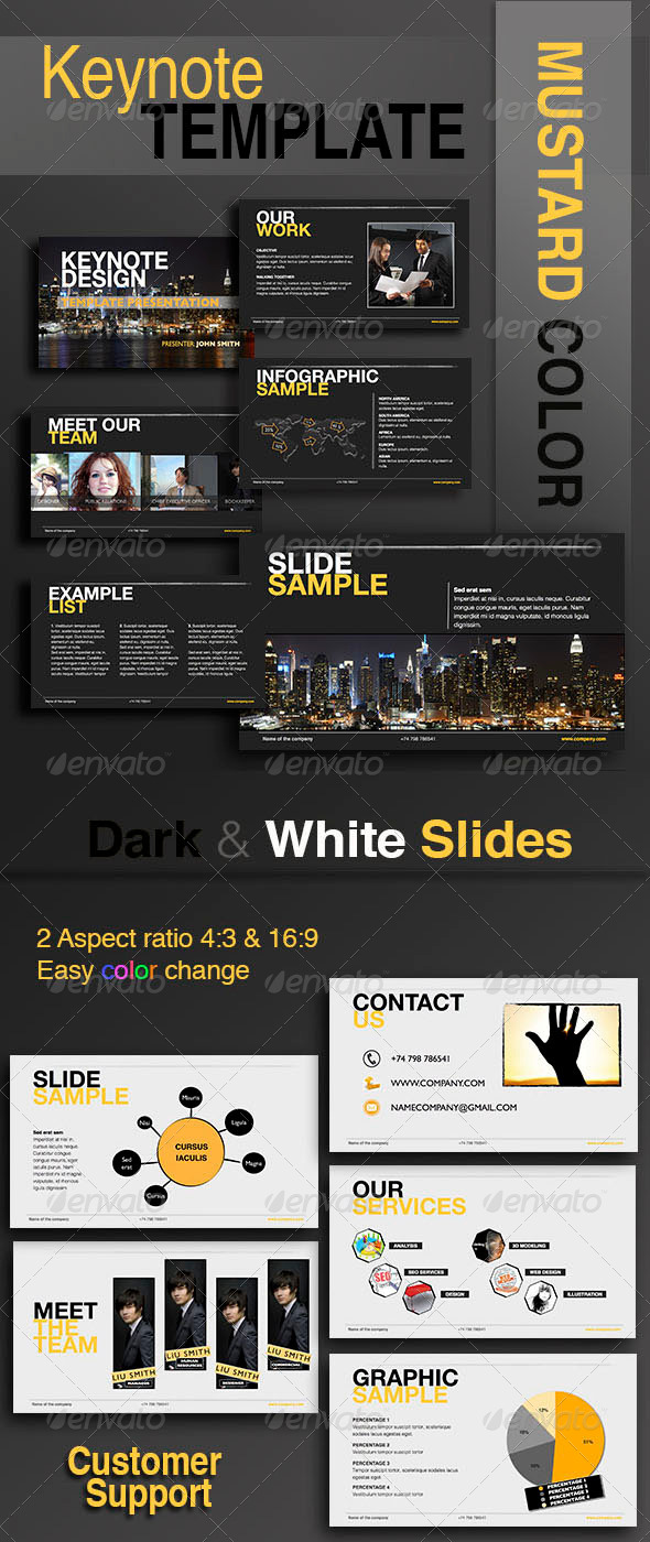 GraphicRiver Keynote Template Mustard Color 6339044